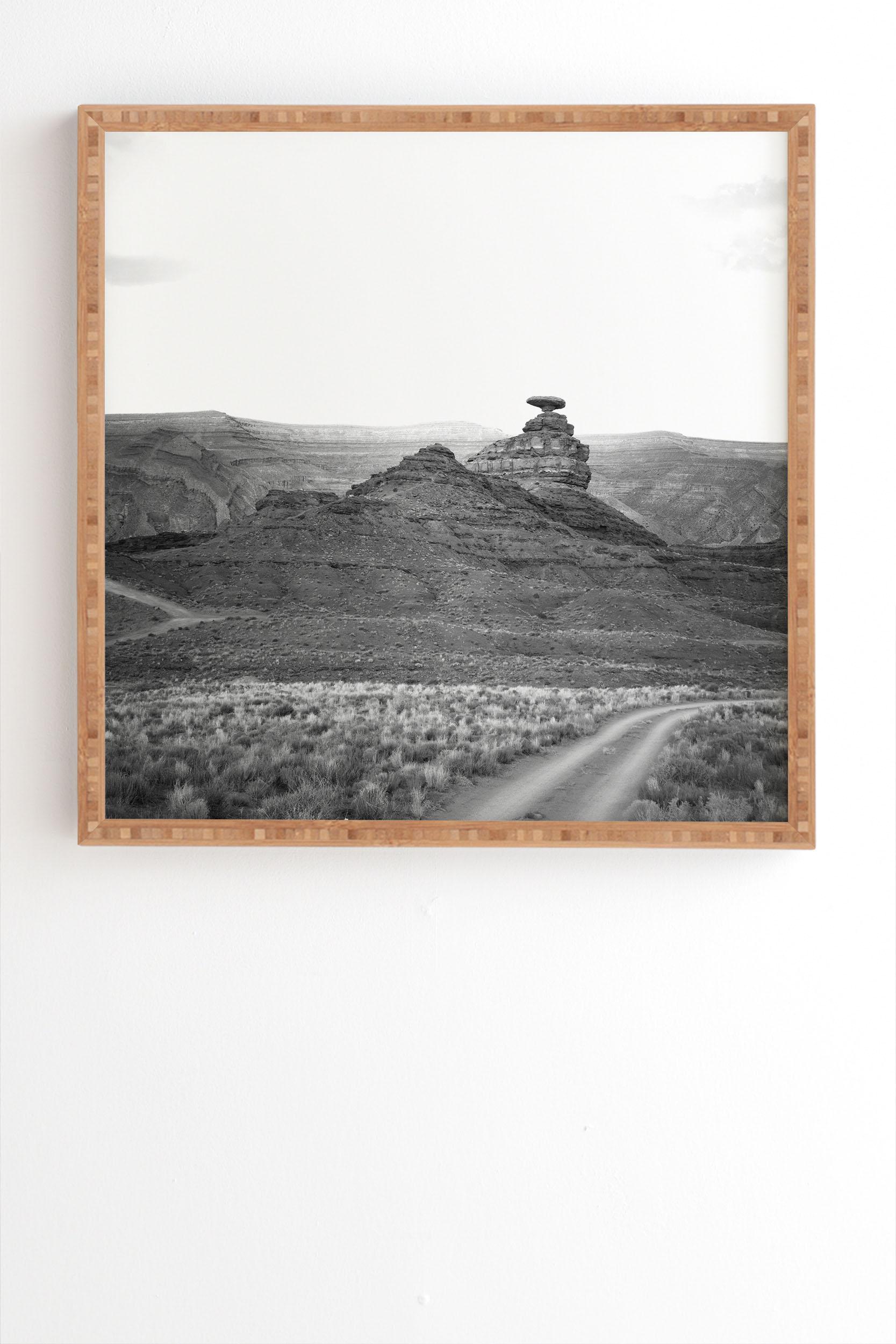 "Desert Southwest by Catherine McDonald - Framed Wall Art Bamboo 30"" x 30"""