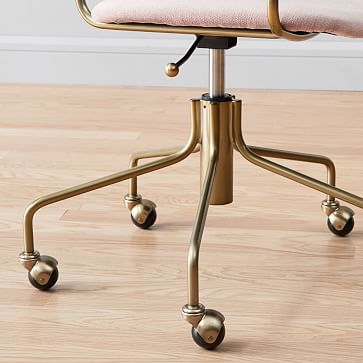 Lennox Office Chair Collection Blush/Blackened Brass Office Chair