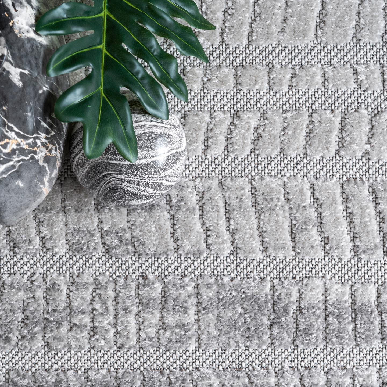 Danna Raised Striped Indoor/Outdoor Area Rug
