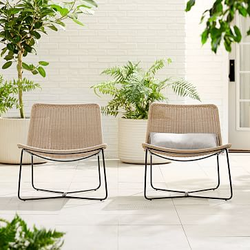 Outdoor Slope Collection Natural Lounge Chair-Individual