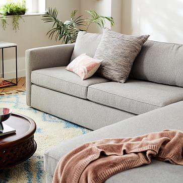 "Harris 96"" Sofa, Performance Coastal Linen, Stone White"
