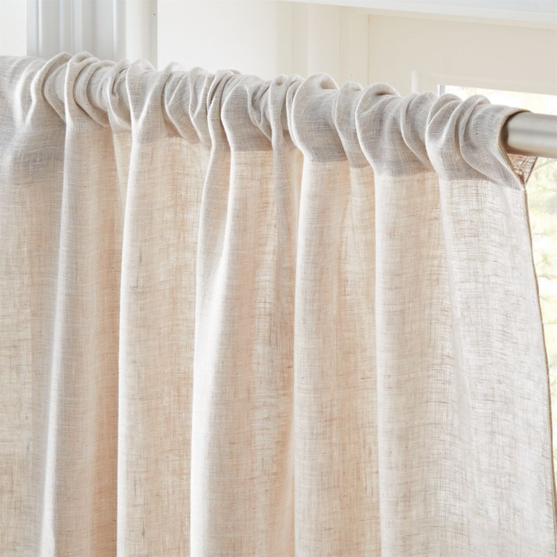 """Dos White and Natural Two-Tone Curtain Panel 48""""x108"""""""