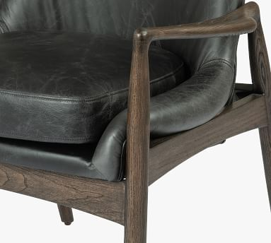 Fairview Leather Dining Chair, Durango Smoke