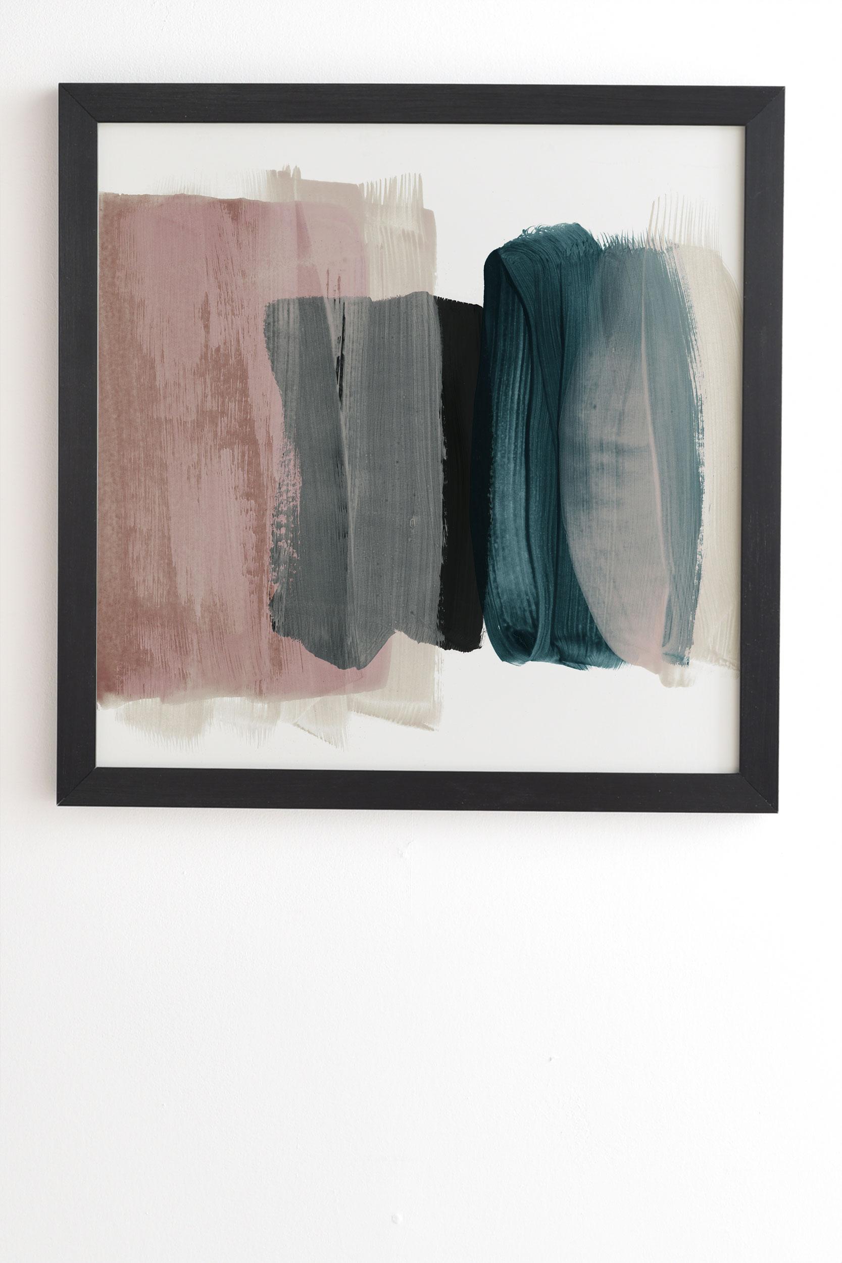 "Minimalism 1 by Iris Lehnhardt - Framed Wall Art Basic Black 30"" x 30"""