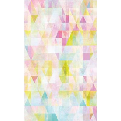 RoomMates 28.29 sq. ft. Prismatic Geo Peel and Stick Wallpaper, pink/ blue