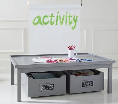 Carolina Activity Carts Set of 2, Chocolate