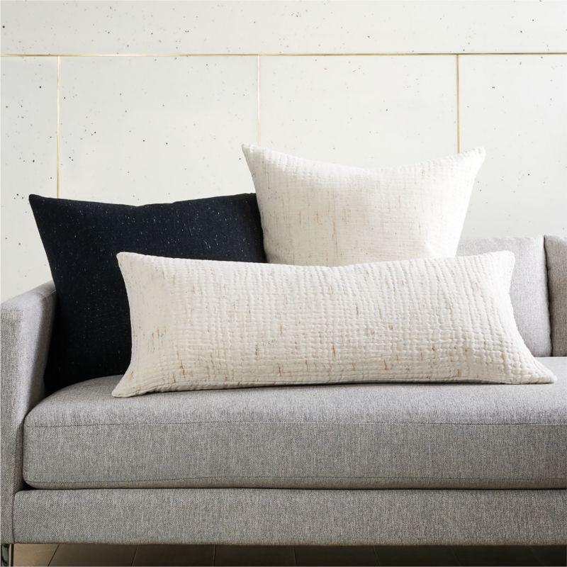 "23"" Nett Ivory Pillow with Down-Alternative Insert"