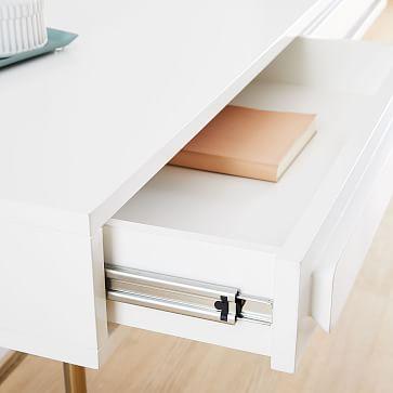 Gemini Desk, White Lacquer
