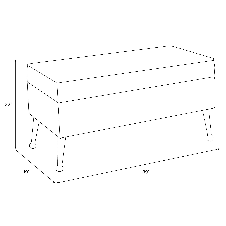 Storage Bench in Dash Black White Oga