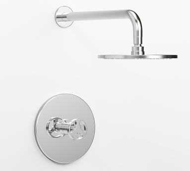 Tilden Pressure Balance Cross-Handle Shower Faucet Set, Matte Black