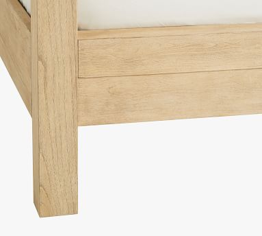 Linwood Canopy Bed, Bone White, King