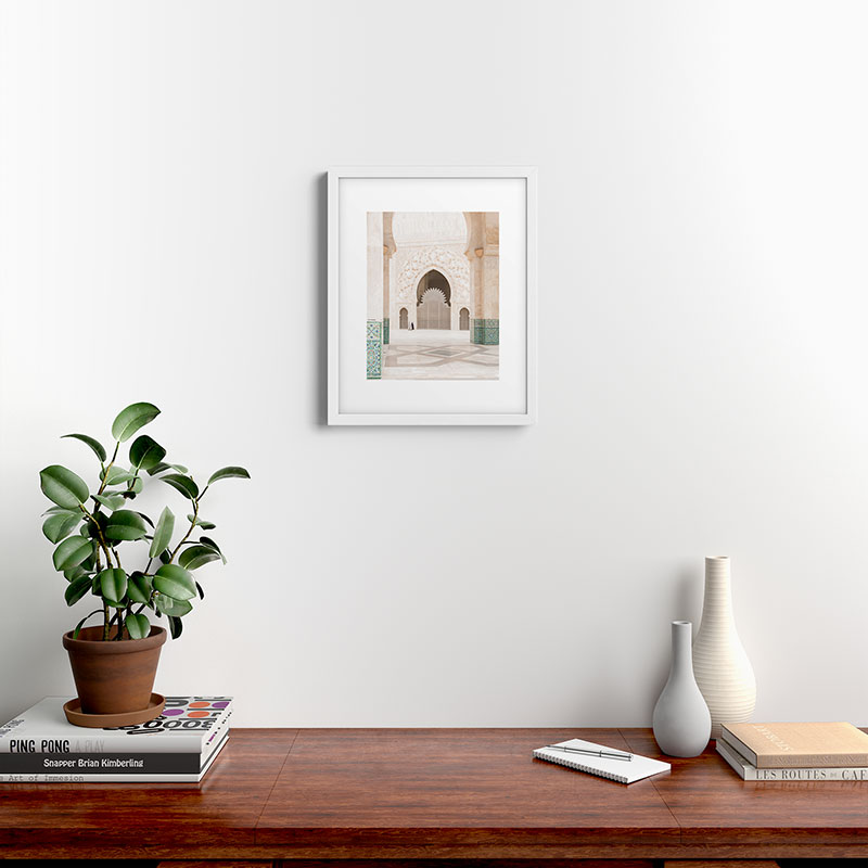 "Morocco Ii by TRVLR Designs, Modern Framed Art Print, White, 16"" x 20"""