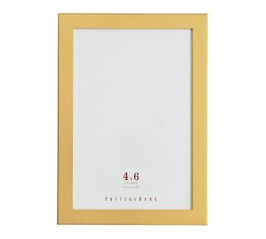 Personalized Modern Brass Frame, 5x5