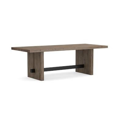 "Montauk Rectangular Dining Table, 118"", Misty Grey"