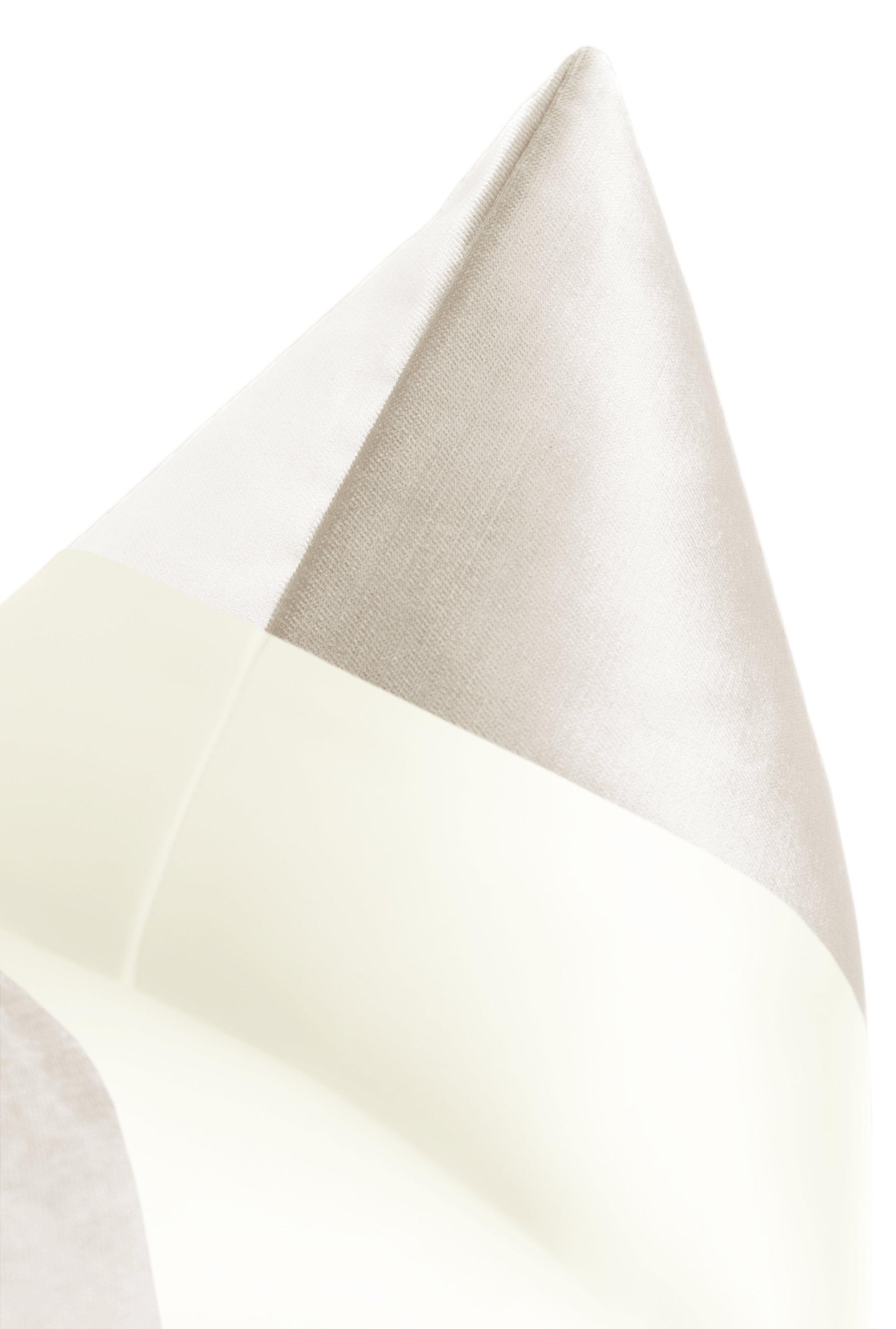 "PANEL Monochromatic :: Faux Silk Velvet // Alabaster - 20"" X 20"" Cover Only"