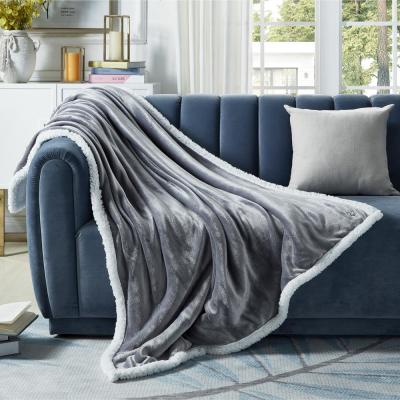 """INSPIRED HOME DECOR Orville Light Grey Throw Super Soft 100% Polyester 50""""x60"""""""