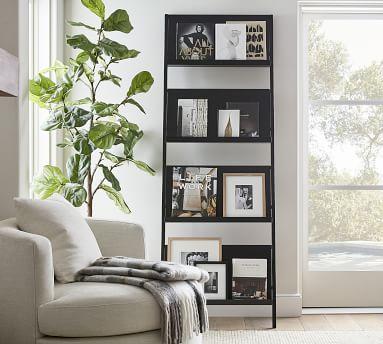 "Temple Street 30"" x 84"" Bookcase, Black"