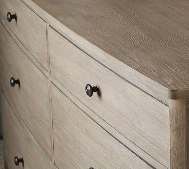 Chloe 6-Drawer Extra Wide Dresser, Ash Gray