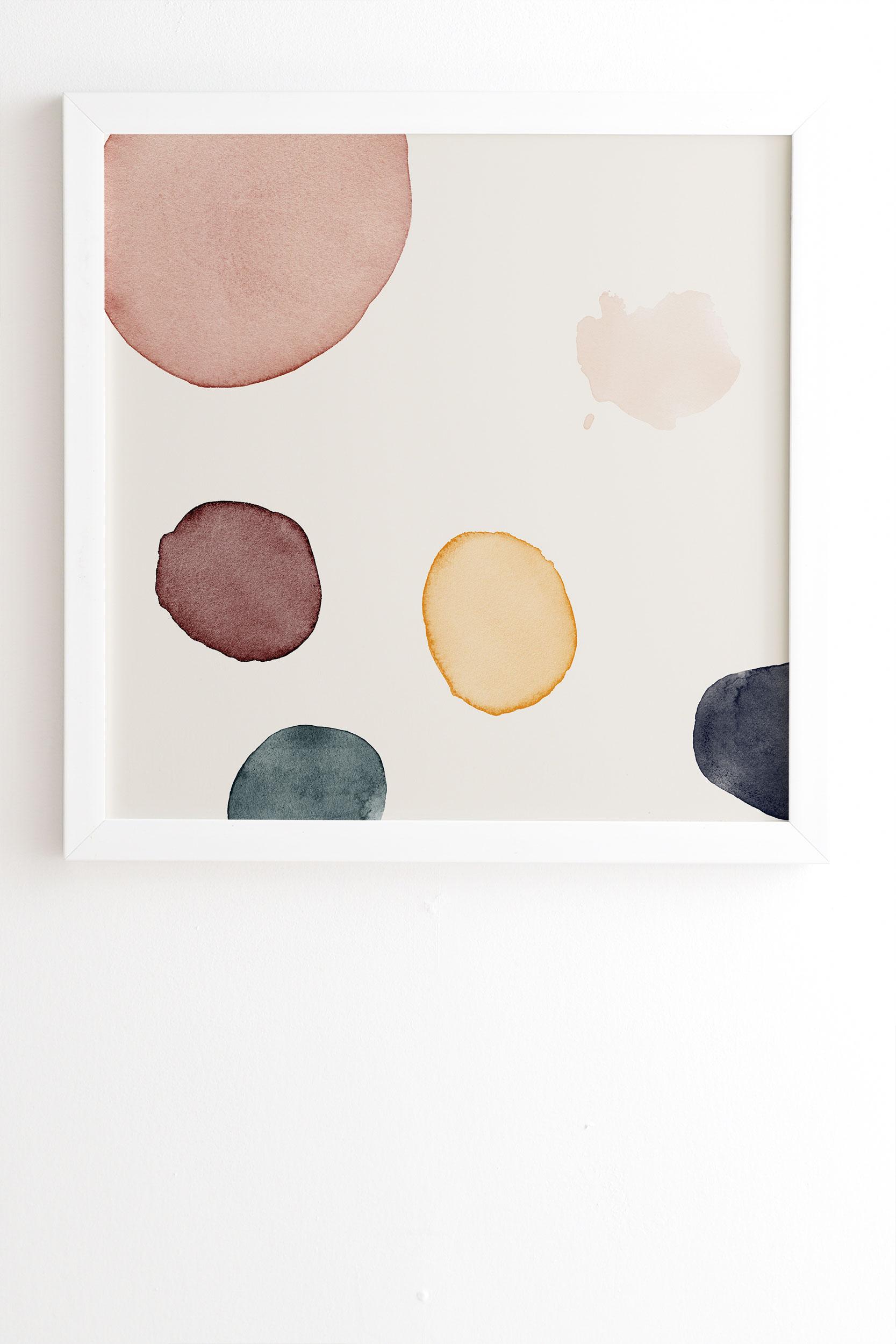 "Peace by Djaheda Richers - Framed Wall Art Basic White 8"" x 9.5"""