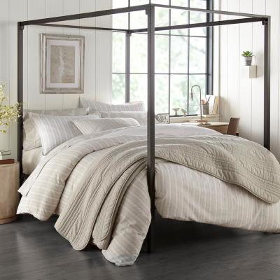 Stone Cottage Oakdale Grey 3-Piece Cotton King Duvet/Sham Set