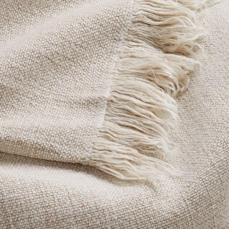 Plain Weave Sand Fringe 55x70 Throw