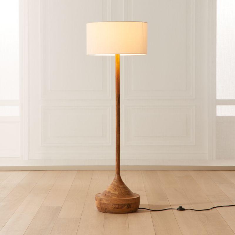 Atlas Wood Floor Lamp, Natural
