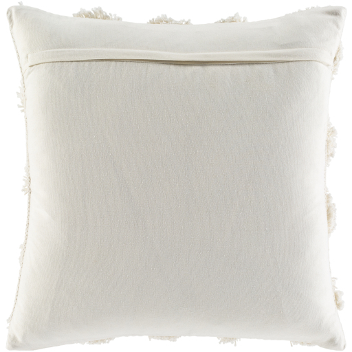 """Veda Pillow Cover, 22"""" x 22"""", Ivory"""
