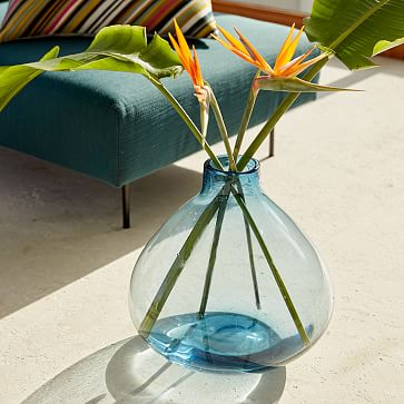 Oversized Glass Vase, Clear
