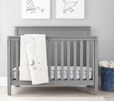 Rory 4-in-1 Convertible Crib, Weathered Charcoal