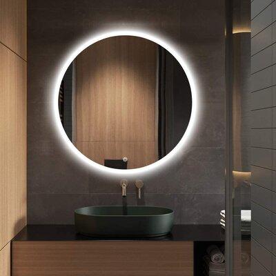 Epperly Frameless Lighted Bathroom Vanity Mirror Wayfair
