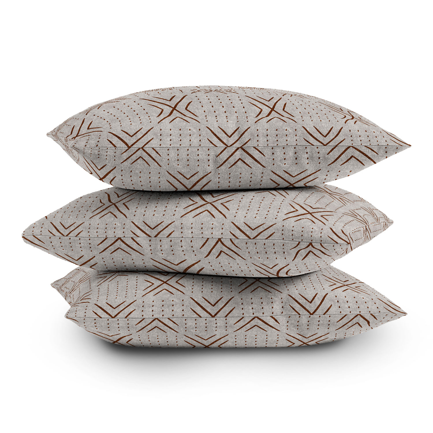 """Mud Cloth Tile Stone Rust by Little Arrow Design Co - Outdoor Throw Pillow, 20"""" x 20"""""""