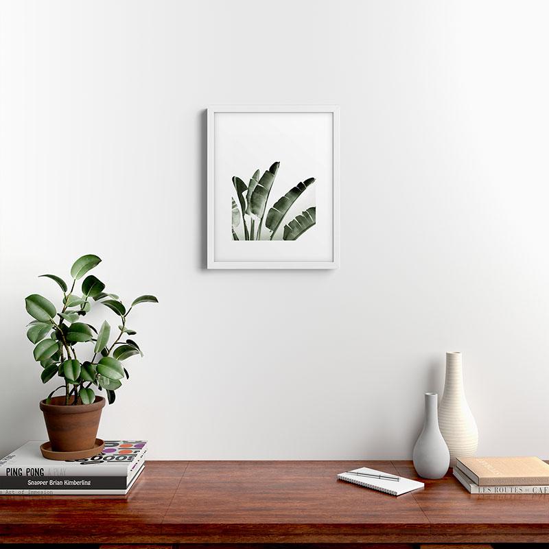 """Traveler Palm by Gale Switzer - Modern Framed Art Print White 16"""" x 20"""""""