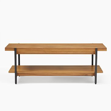 Slatted Wood Bench