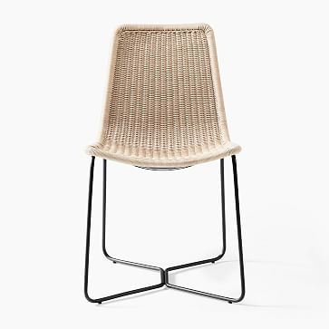 Outdoor Slope Collection Charcoal Dining Chair-Individual
