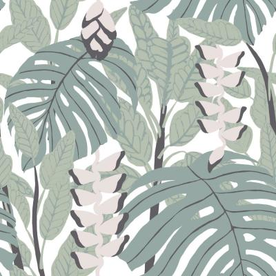 RoomMates 28.29 sq ft Finlayson Bunaken Peel and Stick Wallpaper, green/ pink