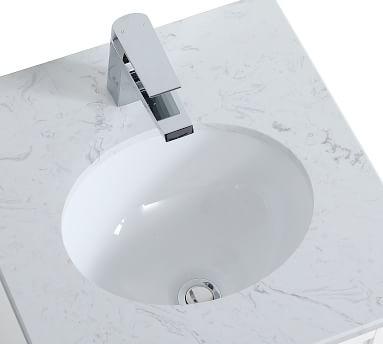 "White Moro Single Sink Vanity, 18"""