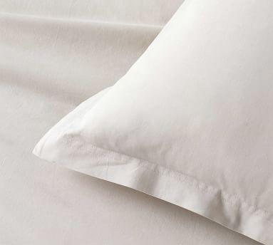 Spencer Washed Cotton Sham, Standard, White