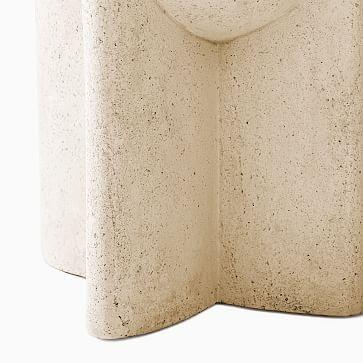 Monti White Lava Stone Side Table