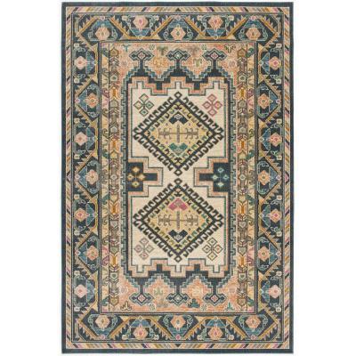 Poly and Bark Ashbury 8'x10' Area rug in Multicolor, Peach Multicolor