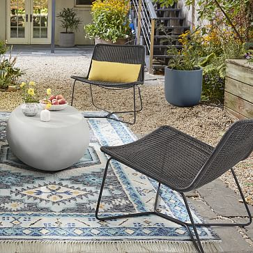 Outdoor Slope Collection Natural Lounge Chair