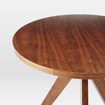 """Tripod Table, Round, 30"""", Walnut"""