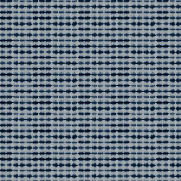 """Shibori Frequency Horizontal Navy And Grey Couch Throw Pillow by Becky Bailey - Cover (18"""" x 18"""") with pillow insert - Indoor Pillow"""