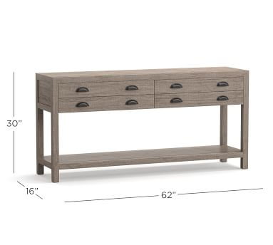 """Architect's 62"""" Reclaimed Wood Console Table, Shelter Pine"""