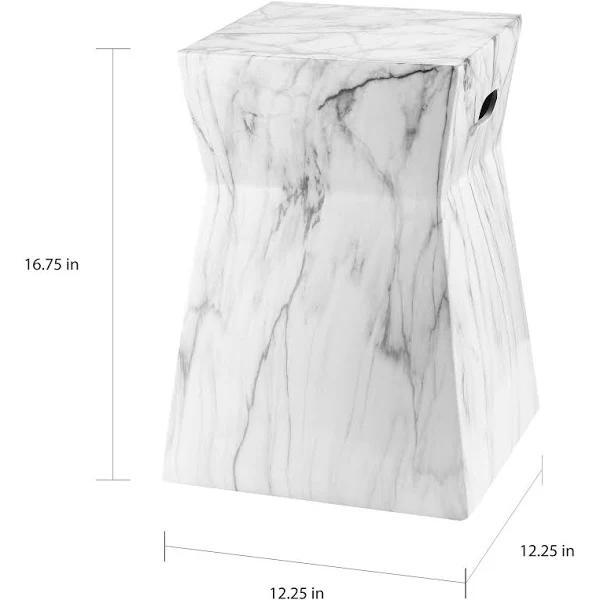 Carnac Marble Stool
