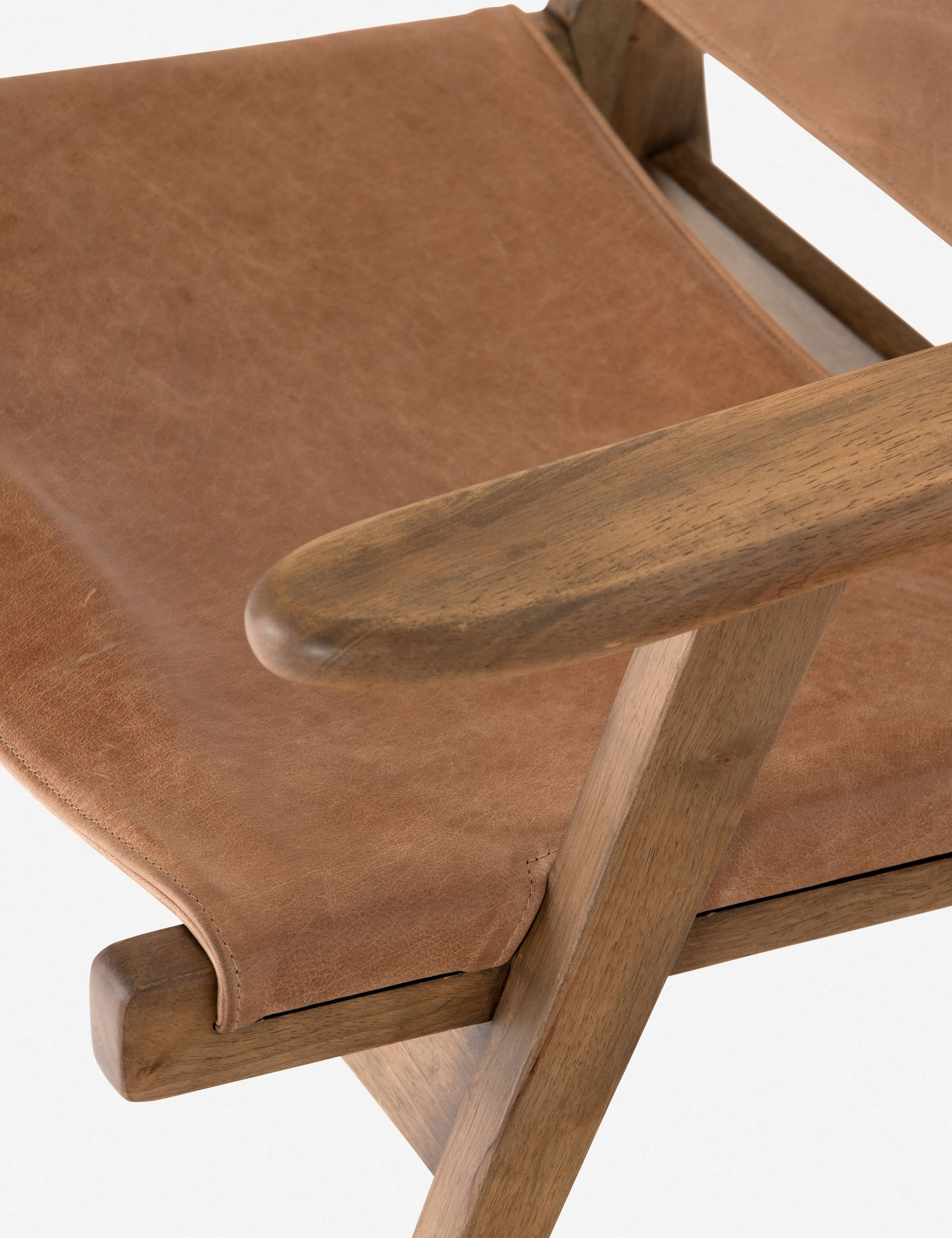Sela Leather Accent Chair, Brown