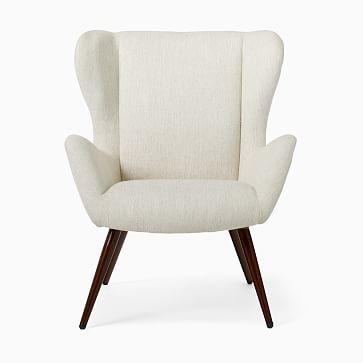 Otto Chair Poly Wheat Twill Faux Wood Walnut