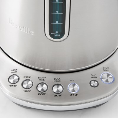 Breville Variable Temp Luxe Kettle Oyster Shell