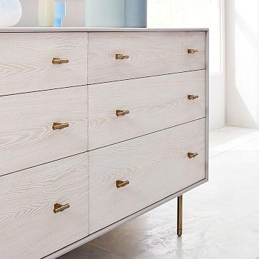Modernist Wood + Lacquer 6-Drawer Dresser - Winter Wood, WE Kids