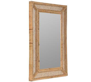 "Ash Rattan Wall Mirror, 24"" X 36"""