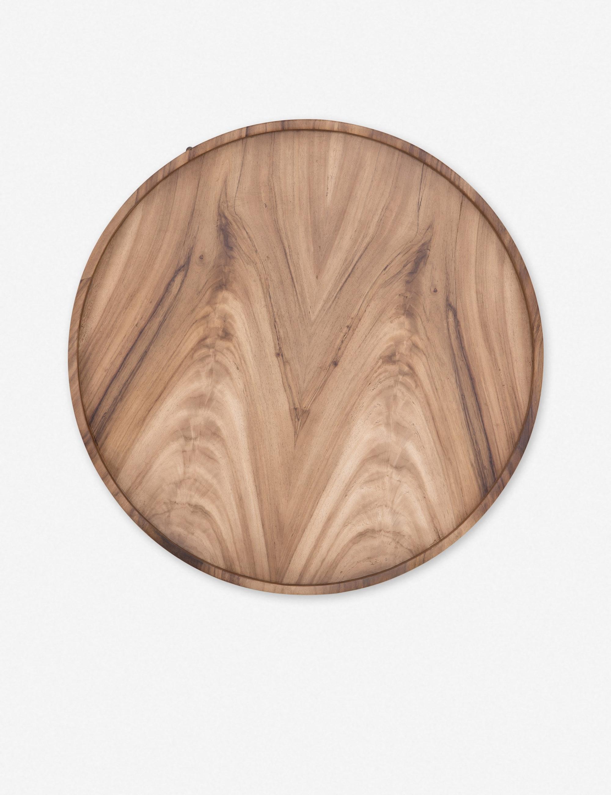 Nausica Drum Coffee Table, Reclaimed Oak